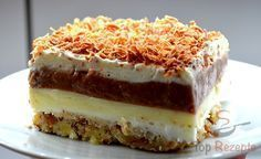 The extra creamy, delicious, sweet and delicious dessert . Köstliche Desserts, Delicious Desserts, Cake Recipe Using Buttermilk, Baking Recipes, Cake Recipes, Hungarian Recipes, Pudding Cake, Pie Dessert, Fondant Cakes