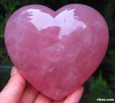 Pink quartz - I have a pink quartz heart somewhere... it was given to me MANY years before I would understand why hearts are my favorite shape.