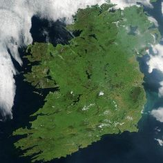♥ The beautiful Emerald Isle from space ...