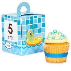 Splashin' Pool Party Cupcake Boxes, 88174 via Birthday Express