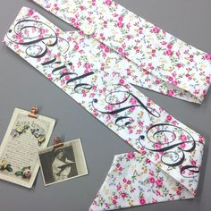 LIMITED EDITION Vintage Style Hen Party Sash in Pink Spray Floral - Classy Alternative Hen Do / Bridal Shower /  Bachelorette Party