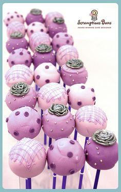 Cake Pops. #cakepops #birthday #party #wedding #theme #purple #ideas #inspiration