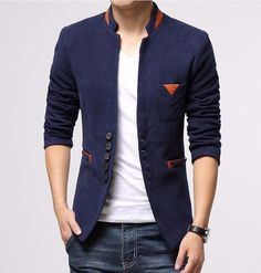Cheap coat of arms fabric, Buy Quality coat king directly from China coat chain Suppliers: New Men's Fashion Casual Contrast Color Blazer Coat , Men's Slim Fit Splicing design Jacket Coat , ASIAN Mens Casual Suits, Blazers For Men Casual, Casual Blazer, Mens Suits, Men Blazer, Blazer Jacket, Gray Blazer, New Mens Fashion, Men's Fashion