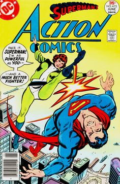 Action Comics 472, June 1977, cover by Bob Oksner.