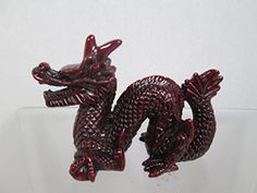 Chinese Red Resin Dragon Statue Sculpture Wfree hanging chinese coins *** You can get additional details at the image link.