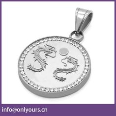 Personalized Stainless Steel Dragon Pendant