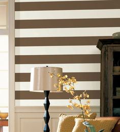 If you want an easy, no paint alternative: Vipes Vinyl Stripes Wall Stripes Removeable Wall by blackbrocade, $99.99