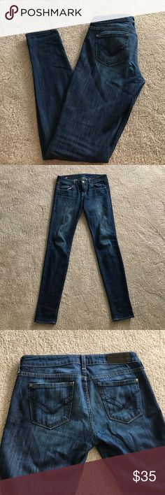 William Rast dark skinny jeans William Rast brand dark skinny jeans.  Very soft and comfortable.  Washed on delicate only and never dried. William Rast Jeans Skinny