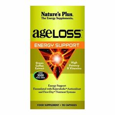 Nature's Plus. Ageloss Energy Support Vcaps. 90 Ct * Read more reviews of the product by visiting the link on the image. (This is an Amazon Affiliate link and I receive a commission for the sales)