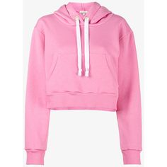 Natasha Zinko Pink cropped hoodie (6.220 ARS) ❤ liked on Polyvore featuring tops, hoodies, long sleeve crop top, pink cropped hoodie, pink hoodies, crop top and patterned hoody