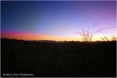 Sunrise in Quartzsite, Arizona. Brittany Rose Photography