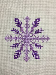 Snowflake from Stitching the Night Away. Cross stitch.
