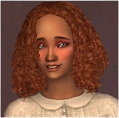 helga 82 Sims 2 Hair, Bouncy Curls, Natural Hair Styles, Female Hair, Sims 4