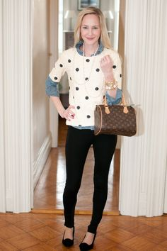 J.Crew Polka-Dot Sequin Top – Kelly in the City