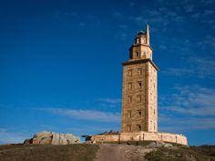 A coruna galicia torre de hercules
