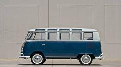 Vintage Blue VW Van