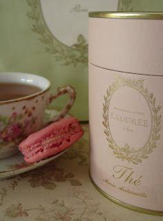 love this blend at Laduree  Marie Antoinette tea