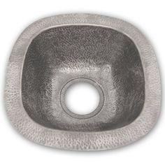 Houzer Hammerwerks Series Undermount Copper 18 in. Bar/Prep Sink - HW-LAG2BF