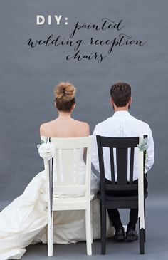 DIY Wedding // How to make painted wedding reception chairs for you and your groom (or bride!)