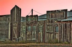 'Old Wild West' photograph by Tyra O'Bryant. #photography #western #country #architecture #sunset #HDR