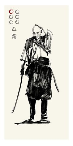 Akira Kurosawa's Seven Samurai - Kambei by Greg Ruth ✤ || CHARACTER DESIGN REFERENCES | キャラクターデザイン • Find more at https://www.facebook.com/CharacterDesignReferences if you're looking for: #lineart #art #character #design #illustration #expressions #best #animation #drawing #archive #library #reference #anatomy #traditional #sketch #development #artist #pose #settei #gestures #how #to #tutorial #comics #conceptart #modelsheet #cartoon || ✤