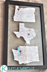 Gifts for Him or Her:  Kayla Danelle Pintrest Challenge Map Art