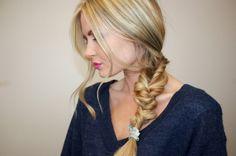 Twisted braid. Super easy for greasy hair days!