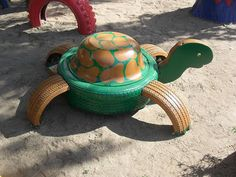 How to Recycle: Animal Craft from Tires