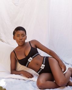 c606cf5828 Down to the essentials ✨ Shelley Mokoena bares it all in our black  #Monogram #