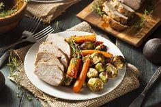Crockpot pork loin and vegetables