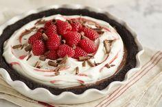 ❃♕ Raspberry Cream Pie with Dark Chocolate