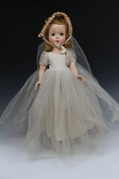 Vintage 1950's Madame Alexander Wendy Bride Margaret Walker Sleepy Eyes Doll