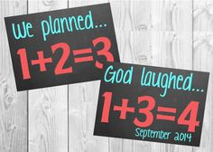 Pregnancy Announcement Chalkboard For Twins // by MMasonDesigns, $25.00
