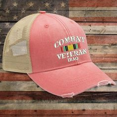 Iraq Combat Veteran Trucker Hat