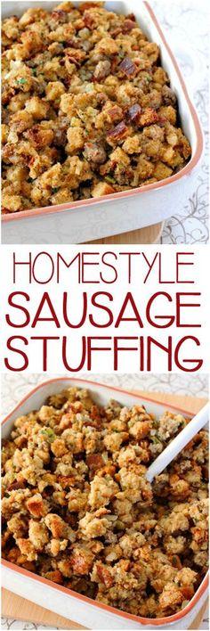 Thanksgiving Sausage Stuffing #thanksgiving #stuffing