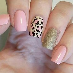 Trendy Animal Print Nail Art Ideas Go through our collection of the best animal print nail art ideas, and get those nails painted now. Stylish Nails, Trendy Nails, Fancy Nails, Pink Nails, Leopard Print Nails, Leopard Nail Art, Cheetah Nail Designs, Perfect Nails, Simple Nails