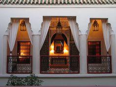 Terrace design of Morocco house
