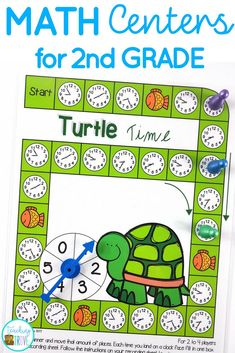 Second grade math centers - easy prep for you, lots of math fun for your kids. This bundle covers the 2nd Grade Common Core Math Standards. #mathcenters #year2math
