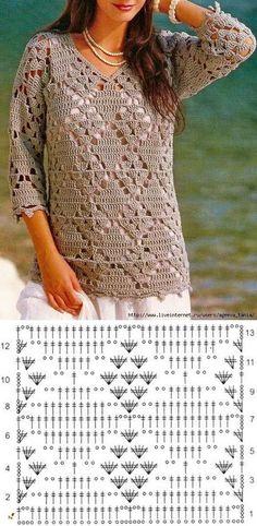 Fabulous Crochet a Little Black Crochet Dress Ideas. Georgeous Crochet a Little Black Crochet Dress Ideas. Blouse Au Crochet, Gilet Crochet, Black Crochet Dress, Crochet Cardigan Pattern, Crochet Jacket, Knit Crochet, Crochet Tops, Crochet Gifts, Beau Crochet