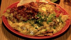 MartAnnes in Flagstaff, AZ is known for it's amazing chilaquiles; a dish consisting of fried corn tortillas, eggs, onions, cheese and sauce. If you're hungry, MartAnnes is a must-do stop, on the famous Route 66.