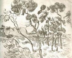 Van Gogh - pijnbomen in de Provence