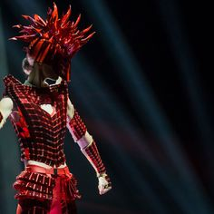 Erevos Aether bespoke fashion design WOW competition Knight of fire. World of Wearable Art