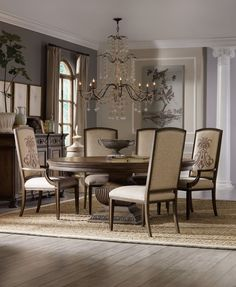 Rhapsody 72 Round Dining Table by Hooker