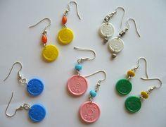 Flip off medication cap earrings