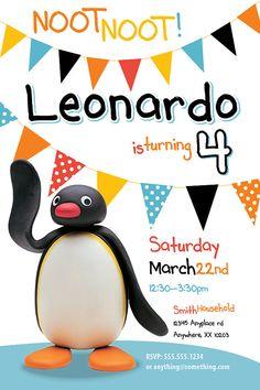 Pingu Theme Birthday Invitation DIY Printable por CiciandBobos, $9.99