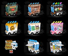 How cute are these cut and fold food trucks? Went berserk making these last year but forget the link.