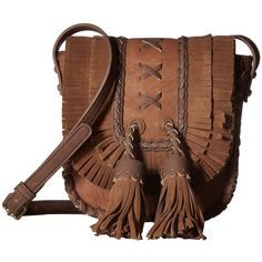 28d0d7548778 Steven Jkorina Leather Trim (Brown) Handbags ( 30) ❤ liked on Polyvore  featuring bags