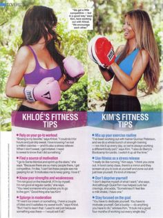 fitness tips from Khloe and Kim