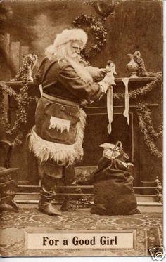 antique vintage post card christmas printable picture decor santa claus                                                                                                                                                      More