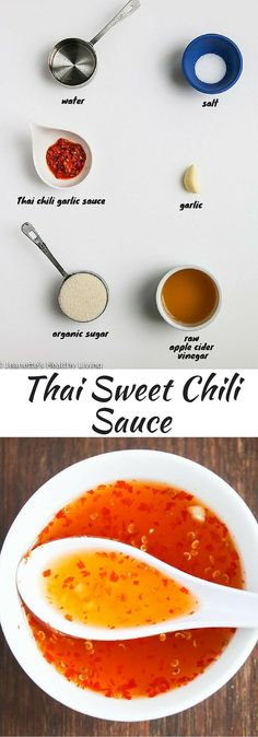 Thai Sweet Chili Sauce - this is a sweet and spicy condiment that goes well with grilled chicken ~ http://jeanetteshealthyliving.com
